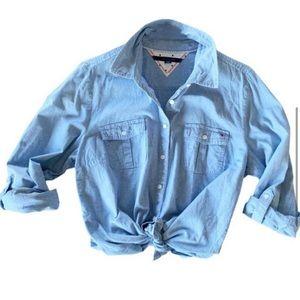 Tommy Hilfiger Utility Roll-Tab Button-Down Shirt